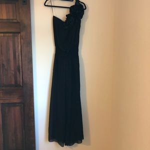 Black dressy Arden.B one shoulder jumpsuit sz.S